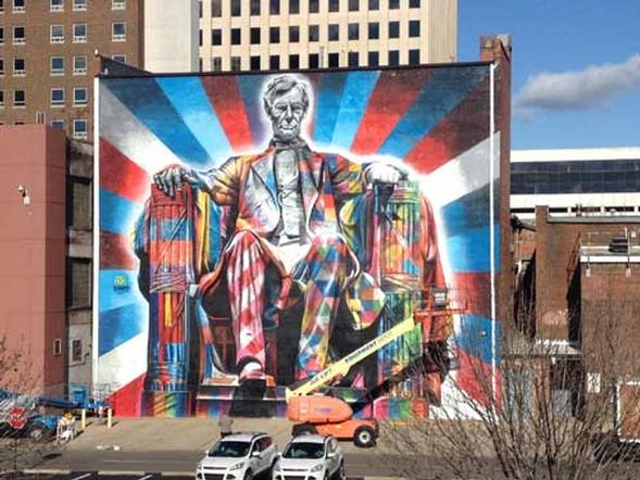 Lincoln Mural Completed in Downtown Lexington