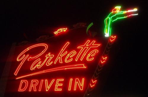 Parkette sign