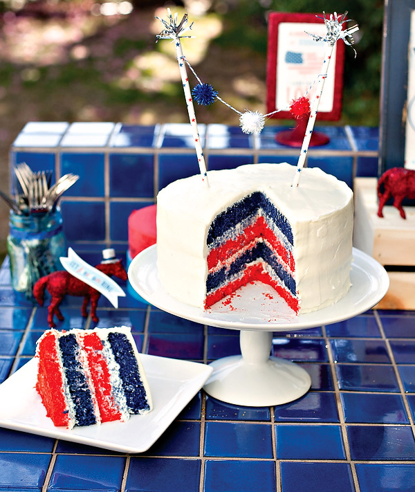 Patriotic Layered Cake