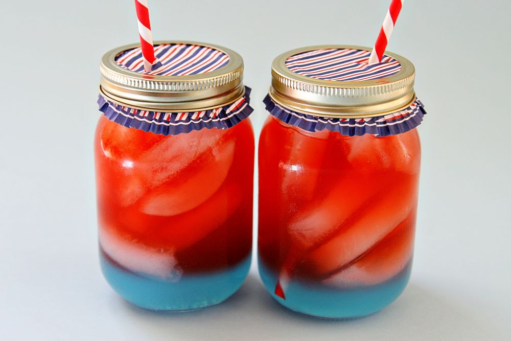 Red and Blue Patriotic Drink