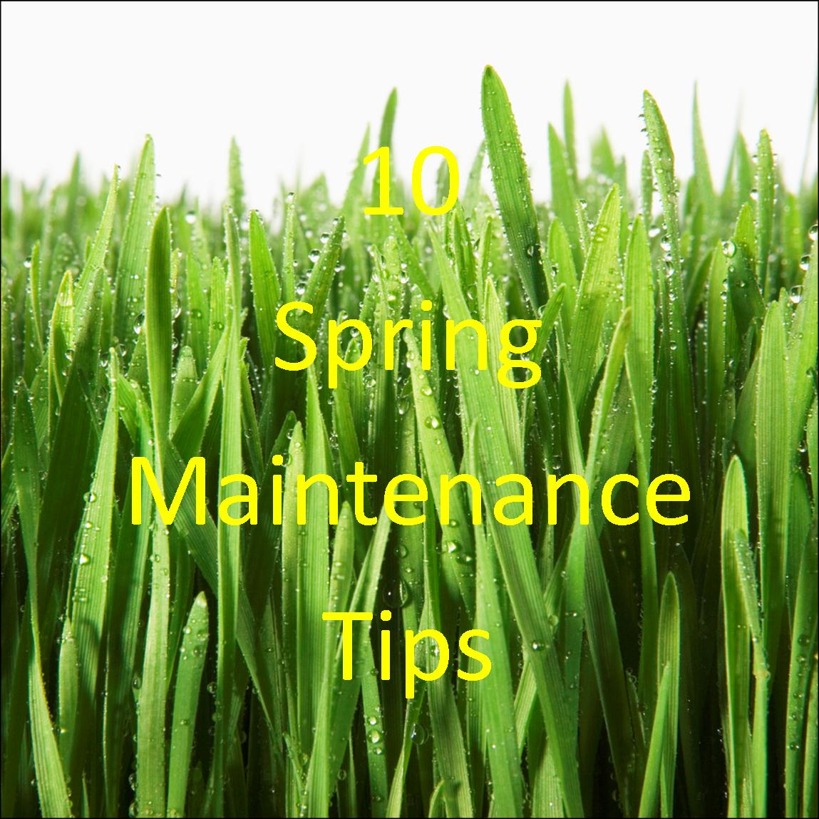 10 Spring Maintenance Tips