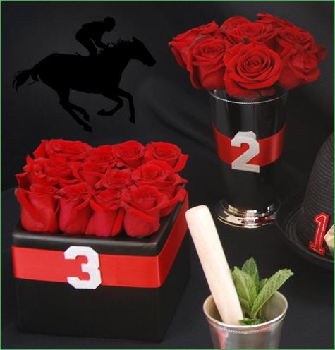 derby rose centerpieces