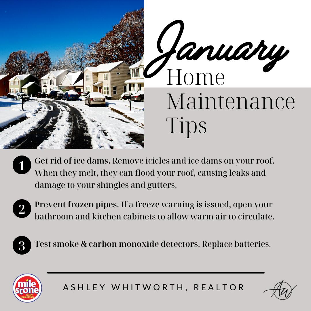 January 2021 Home Maintenance Tips
