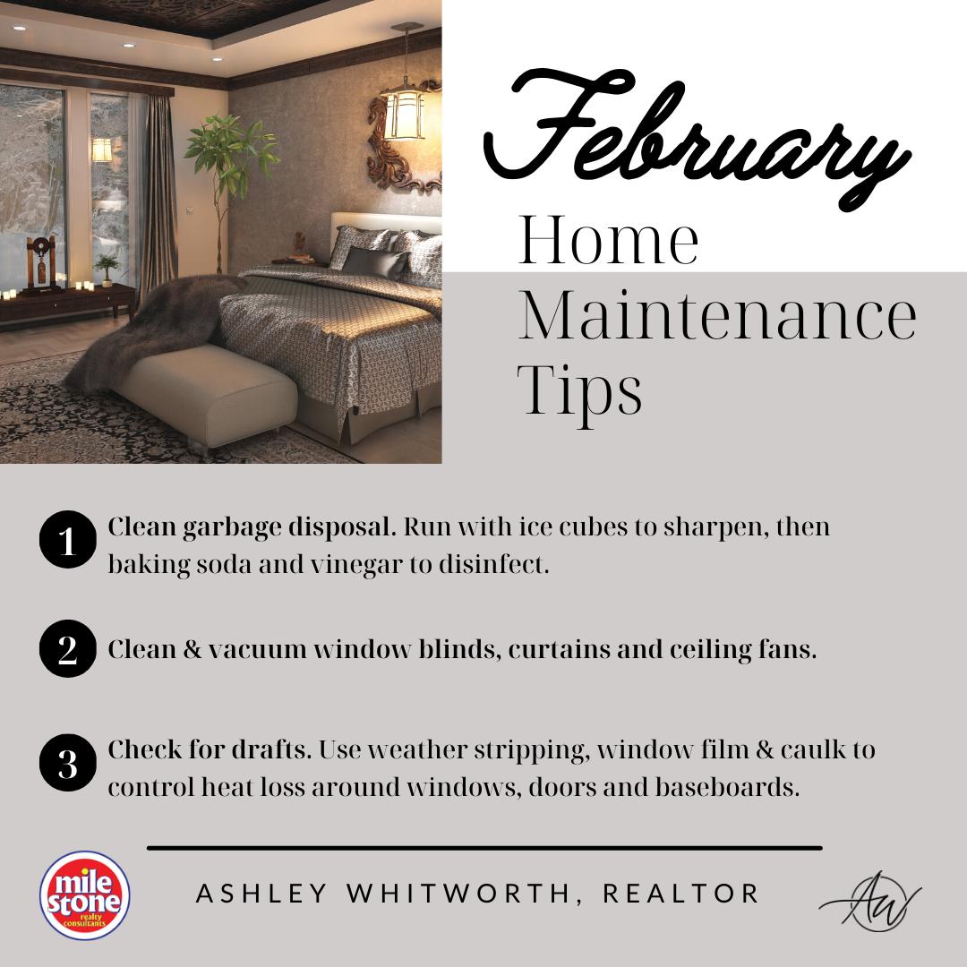 February 2021 Home Maintenance Tips