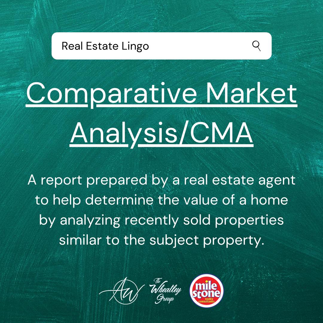 Real Estate Lingo - CMA
