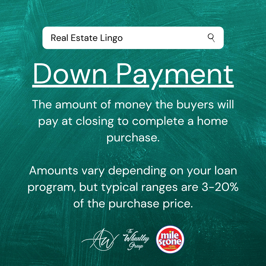 Real Estate Lingo Down Payment