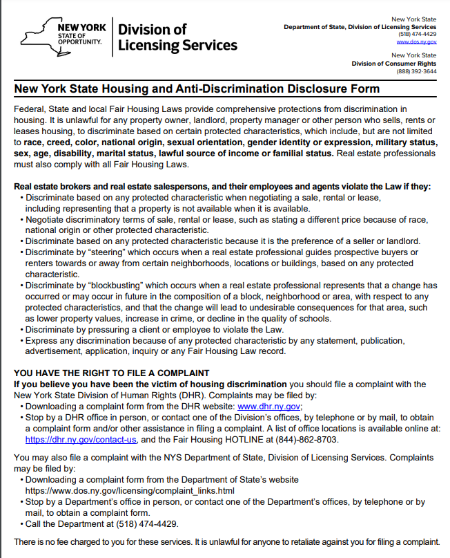 Fair Housing Notice Print Page 1